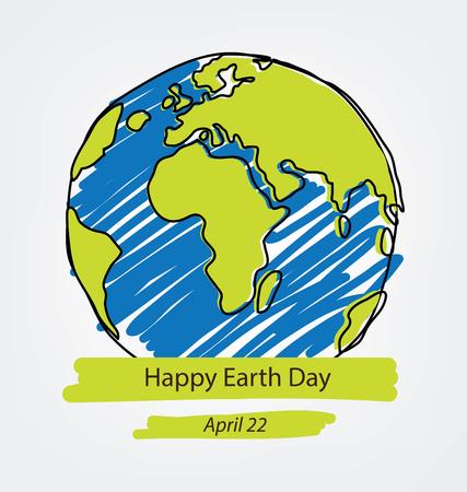 World earth day concept. vector Illustration. Illustration