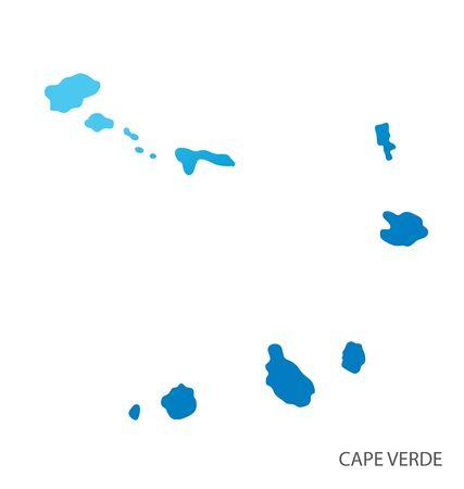 Cape Verde. World Map vector Illustration.