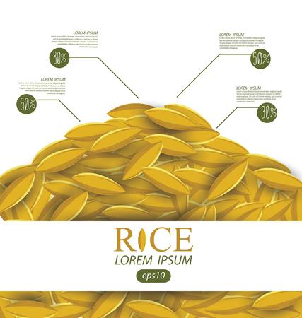 Rice grains. Vector illustration. Vector Illustration
