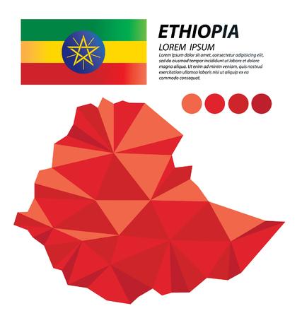 Ethiopia geometric concept design Illustration