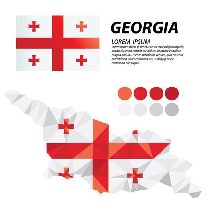 georgia: Georgia geometric concept design Illustration