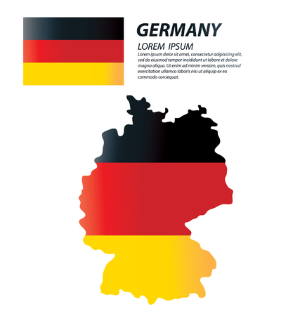 clime: Federal Republic of Germany. flag vector Illustration.