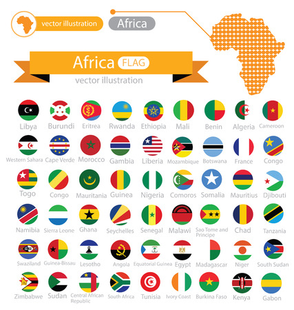 Flag of Africa. vector Illustration. Illustration