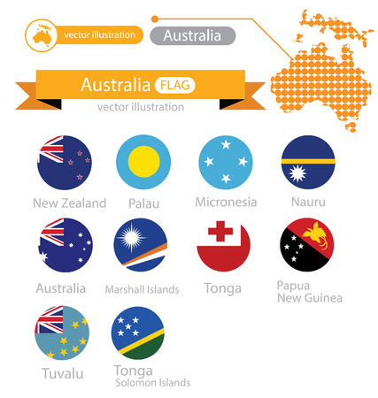 tonga: Flag of Australia. vector Illustration. Illustration