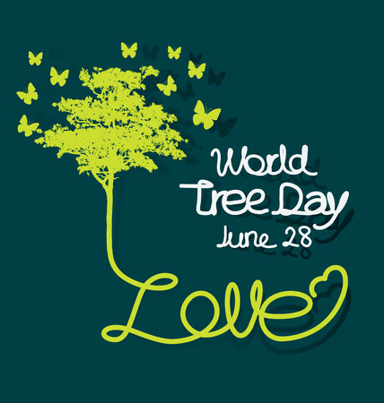 World tree day concept vector illustration.