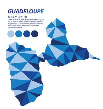 guadeloupe: Guadeloupe geometric concept design Illustration