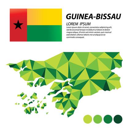 Guinea-Bissau geometric concept design Illustration