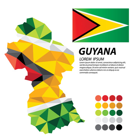Guyana geometric concept design Illustration
