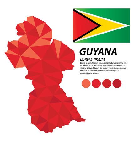 Guyana geometric concept design 일러스트