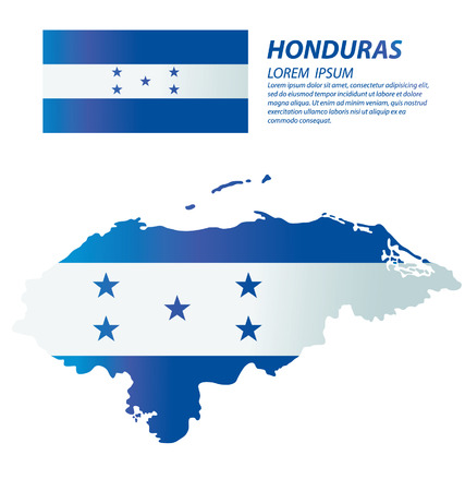 honduras: Honduras vector Illustration