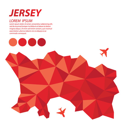 jersey: Jersey geometric concept design Illustration