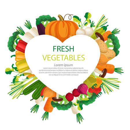 vegetables vector illustration.