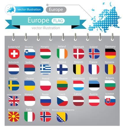 Bandera de Europa. Ilustración vectorial. Foto de archivo - 72539543