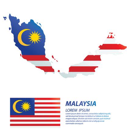 Malaysia. flag vector Illustration. Stock Illustratie