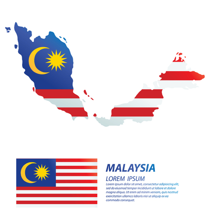 Malaysia. flag vector Illustration. Illustration