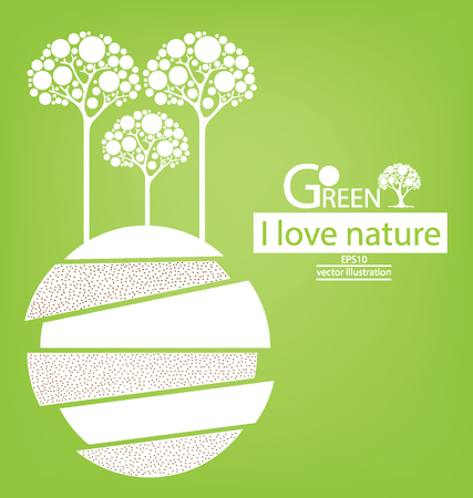 Green concepts. save world. vector illustration.
