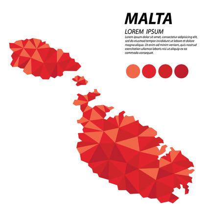 malta: Republic of Malta geometric concept design Illustration