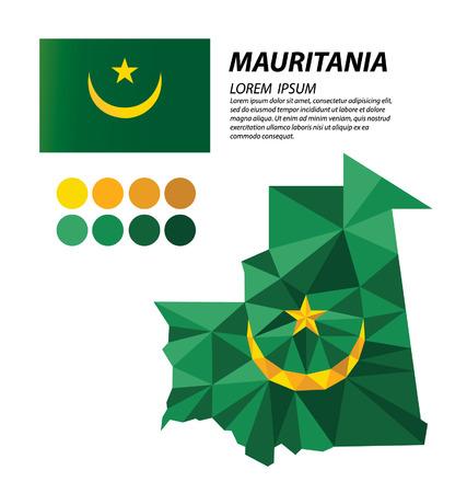 mauritania: Mauritania geometric concept design