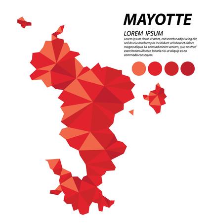 Mayotte concepto de diseño geométrico Vectores