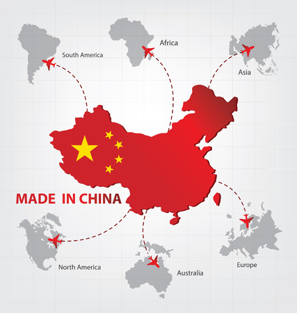 china business: Made in china. Business concept.