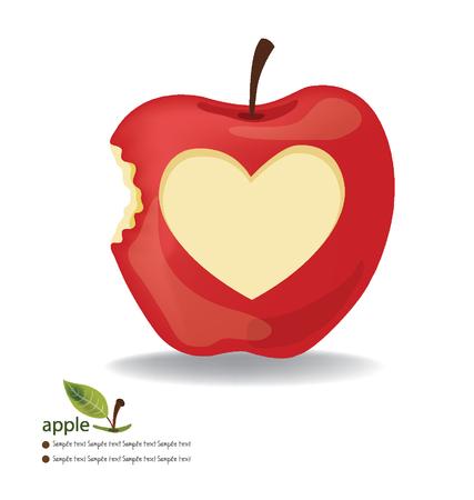 Love Apple vector illustration