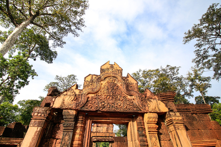 Banteay Srei Temple, Siem Reap, Cambodia Stock Photo