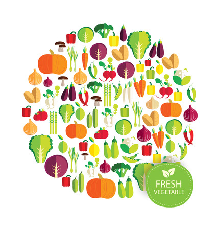 Vegetables repetitive colorful cartoon illustration.