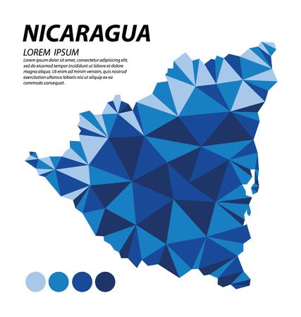 Republic of Nicaragua geometric concept design Illustration
