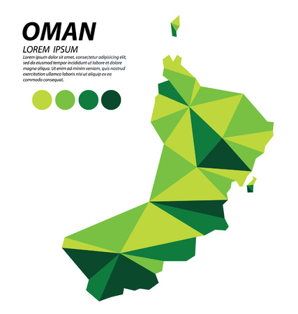 Sultanate of Oman geometric concept design. Illustration