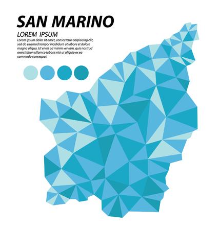 San Marino geometric concept design Illusztráció