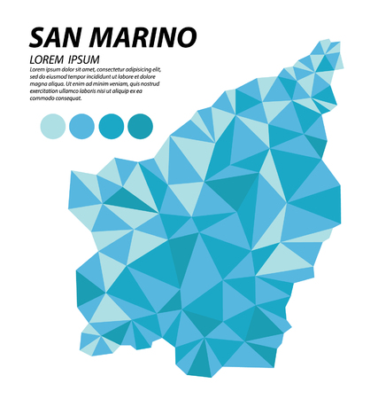San Marino geometric concept design Illustration