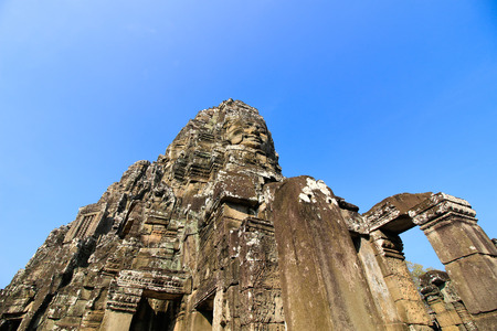 Bayon temple, Siam Reap, Cambodia. Stock Photo