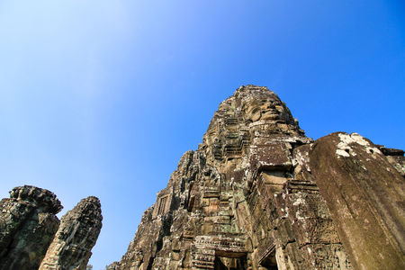 Bayon temple, Siam Reap, Cambodia. Stock Photo