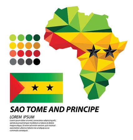Sao Tome and Principe geometric concept design illustration.