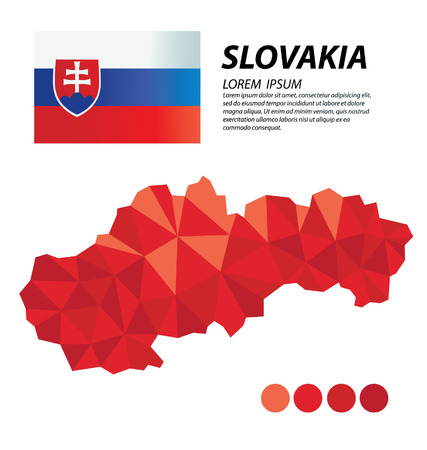 Slovakia geometric concept design Illustration