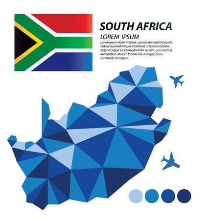 South Africa geometric concept design 스톡 콘텐츠 - 133557881