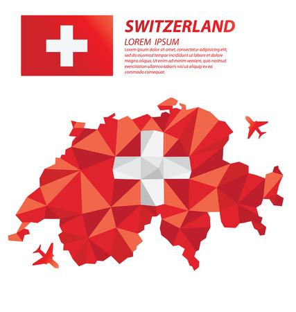 Switzerland geometric concept design