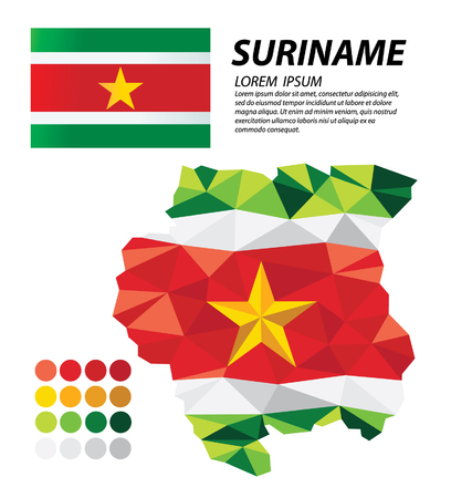 Suriname geometric concept design