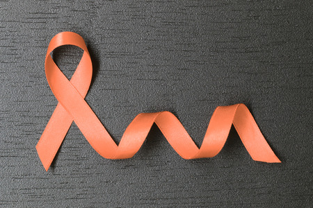 Peach ribbon. Uterine Cancer awareness symbol. healthcare and medicine concept.