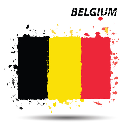 Watercolor in Belgium flag concept