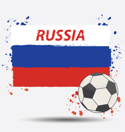 Watercolor in Russia flag concept Ilustração