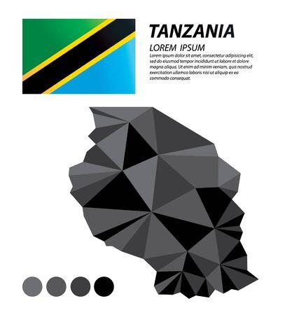 Tanzania geometric concept design 스톡 콘텐츠 - 133557887