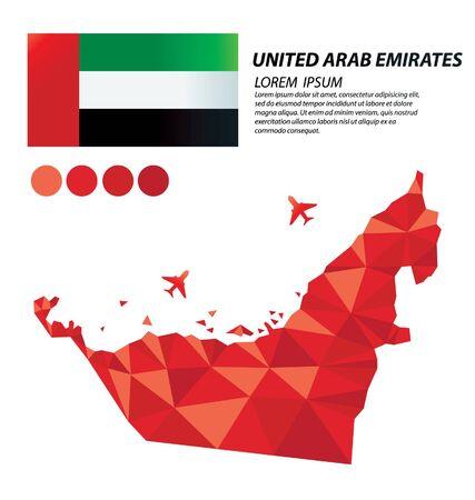 United Arab Emirates geometric concept design vector 일러스트