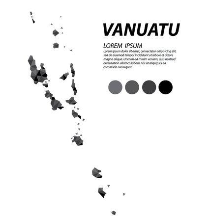 Republic of Vanuatu geometric concept design vector