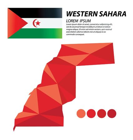Western Sahara geometric concept design vector 일러스트