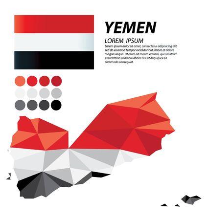 Republic of Yemen geometric concept design vector