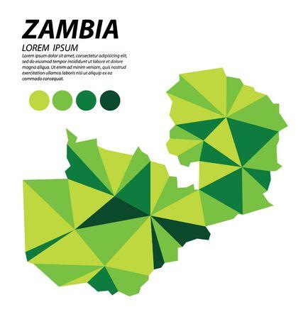 Zambia geometric concept design vector