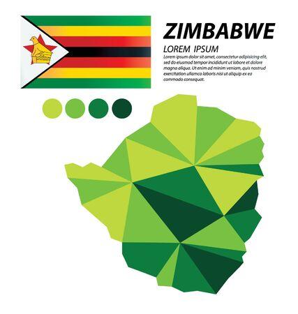 Republic of Zimbabwe geometric concept design vector 일러스트
