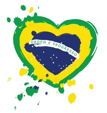 Watercolor in Brazil flag concept