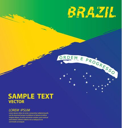 Watercolor in Brazil flag concept